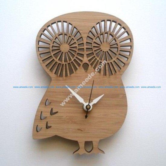 Laser Cut Owl Shape Clock