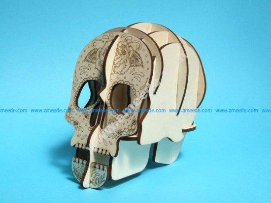 Laser Cut Skull 3d Pen Holder