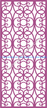 Laser Cut Vector Panel Seamless 174