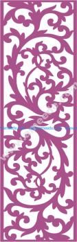 Laser Cut Vector Panel Seamless 176