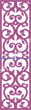 Laser Cut Vector Panel Seamless 180