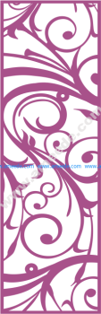 Laser Cut Vector Panel Seamless 187