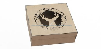 Laser Cut Wooden Gift Box