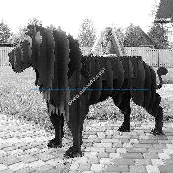 Lion BBQ cnc plan vector