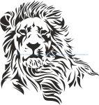 Lion Stencil Vector