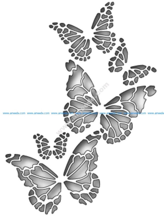 Memory Box Butterfly Vector Art