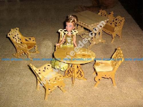 Mini Dollhouse Furniture