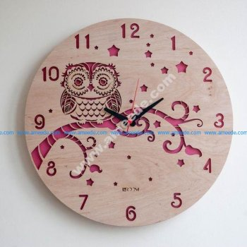 Modern Wall Clock OWL