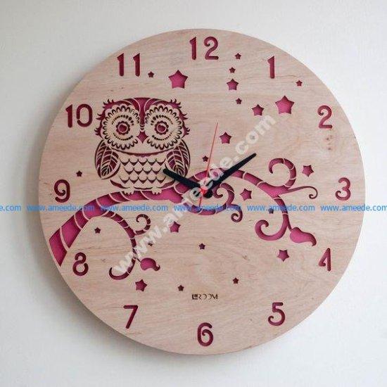 Modern Wall Clock OWL
