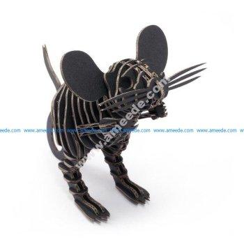 Mouse Puzzle Mdf Wood Laser Cut