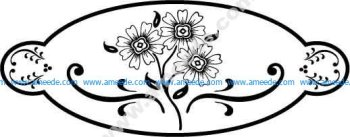 Oval Flower Design EPS