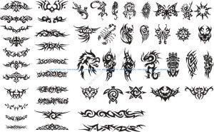 Patterns of Tribal Tattoo Vectors