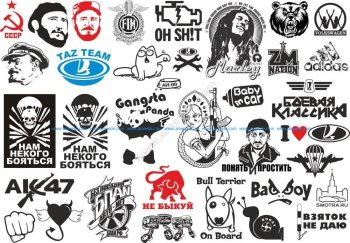 Popular Stickers Pack Vector