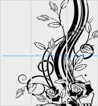 Sandblasting glass designs Flowers