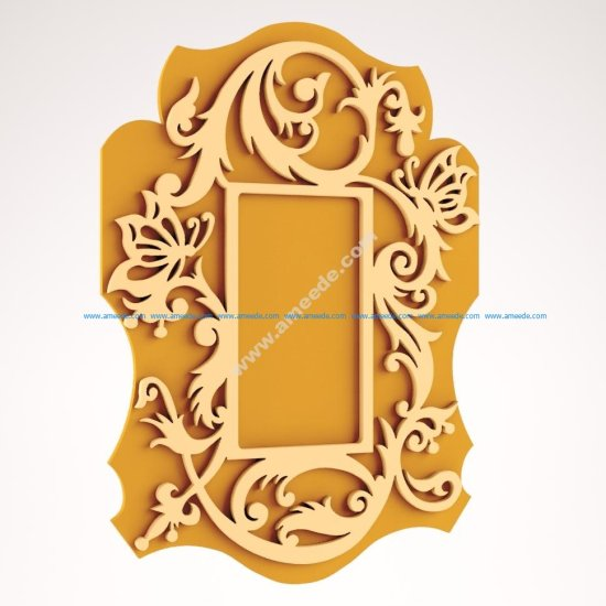 Scrolled Mirror Frame CNC Router
