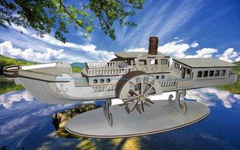 Ship 3D Puzzle Pattern