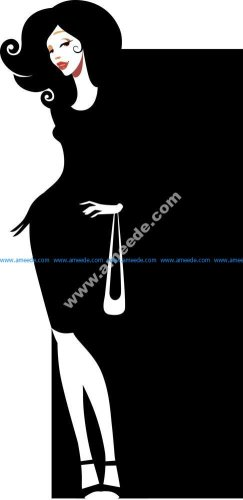 Silhouette of an elegant woman