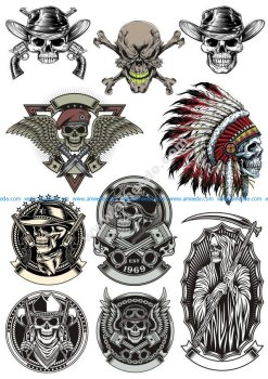 Skull Vector Collection