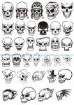 Skull demon or evil horror Vector Pack