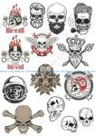 Skull motorclub stock vector