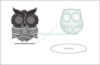 Sleepy-eyed Owl Night Light