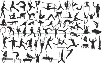 Sports Silhouettes Vector Set