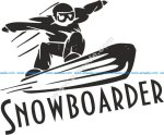 Sports Snowboarding Vector