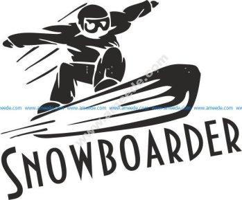 Sports Snowboarding Vector