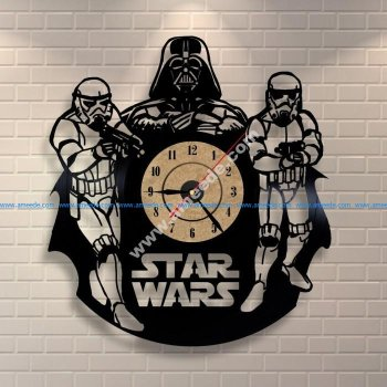Star Wars Darth Vader Wall Clock and Storm Troopers