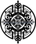 Stencil medallion