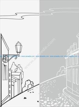 Street Scene Sandblast Pattern