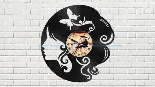 The Head of a Girl Vinyl Clock