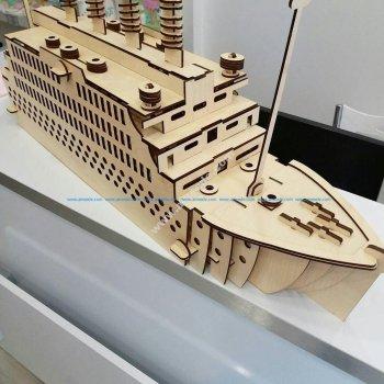 Titanic Laser Cut Puzzle Model