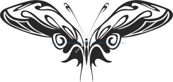 Tribal Butterfly Vector Art 15