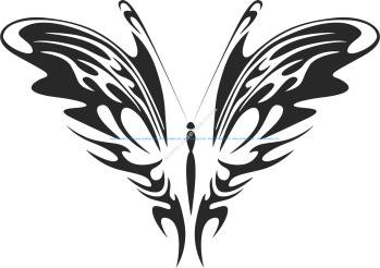 Tribal Butterfly Vector Art 26