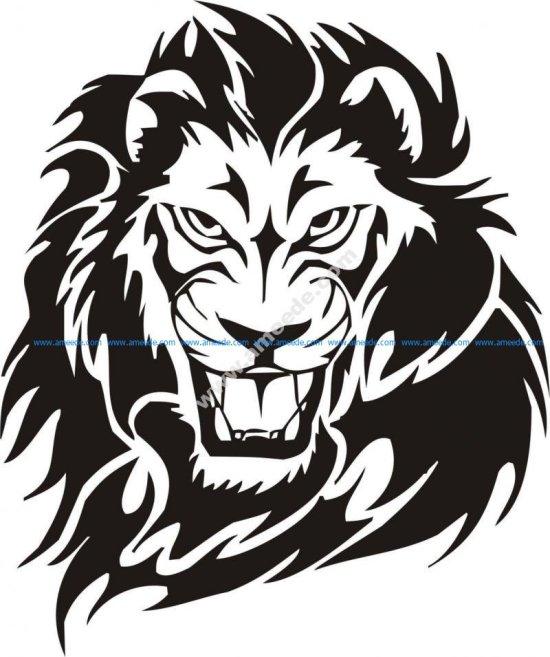 Tribal Lion Tattoo Design vector