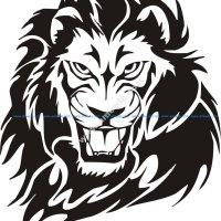 Tribal Lion Tattoo Design vector