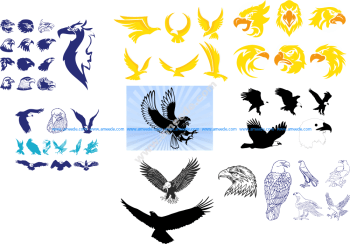 Tribal Wing Tattoos Vector Art Collection