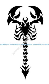 Tribal scorpion tattoo design