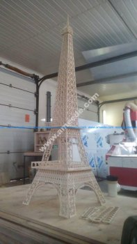 Vector For Laser Cut Of Eiffel Tower