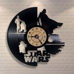Vinyl Record Clock Star Wars Wall Decor