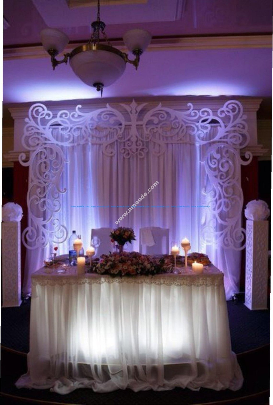 Wedding Settee Back Decorations - Download Free Vector