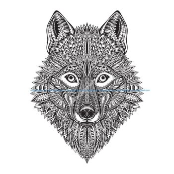 Wolf Face Vector Art