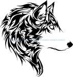 Wolf Stencil Vector