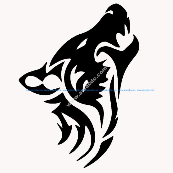 Wolf Tribal Animal Tattoo