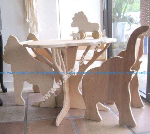 Wooden Animals Plywood Furniture Designs