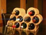 Asymmetrical Wine Rack Laser Cut