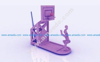 Basketball Pen Holder Stand 3mm