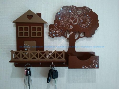 Decorative Key Holder For Wall Free Vector