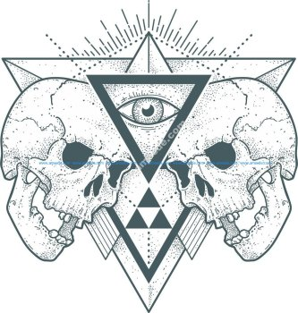 Skull Eye Print Free Vector